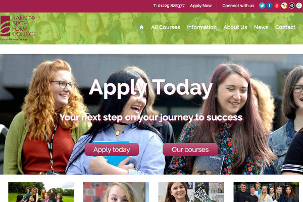 Website Design, Web Design, WordPress, Responsive, Barrow, Cumbria, School, College