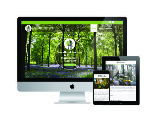 CJG Silviculture website by Windmill Websites - forestry and woodland management and consultancy